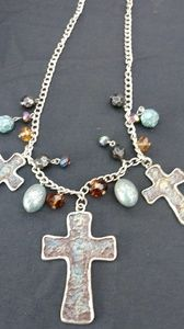 Beautiful vintage crosses neclake